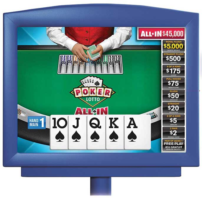 POKER ALL IN game in display screen