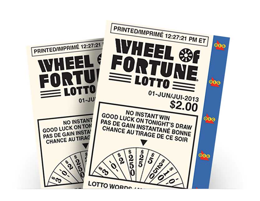 Two WHEEL OF FORTUNE® LOTTO tickets