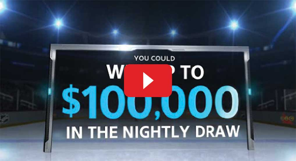 Video about winning up to $100,000 in nightly draw