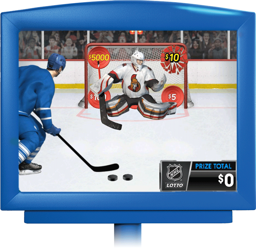 NHL® LOTTO in display screen