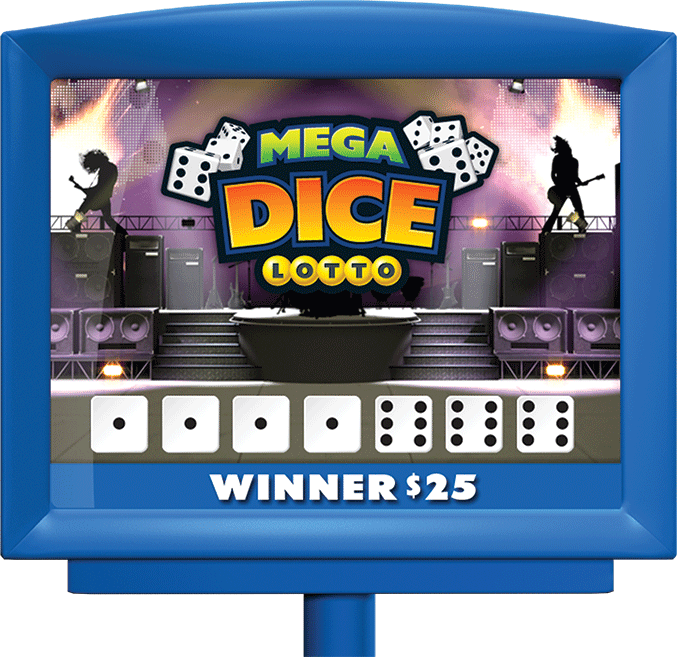 MEGADICE LOTTO game in display screen