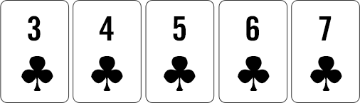 Clubs Straight Flush