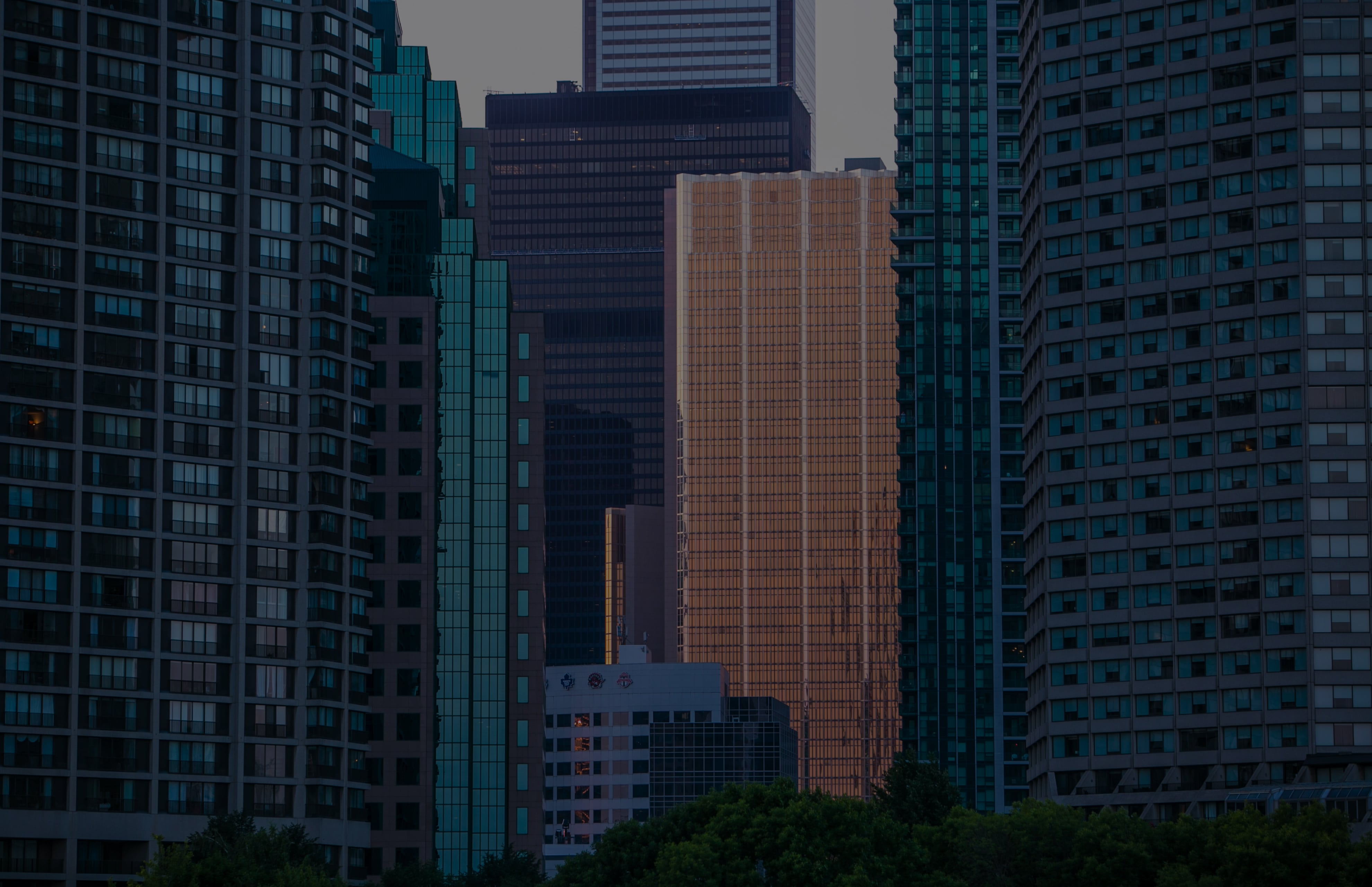Array of skyscrapers