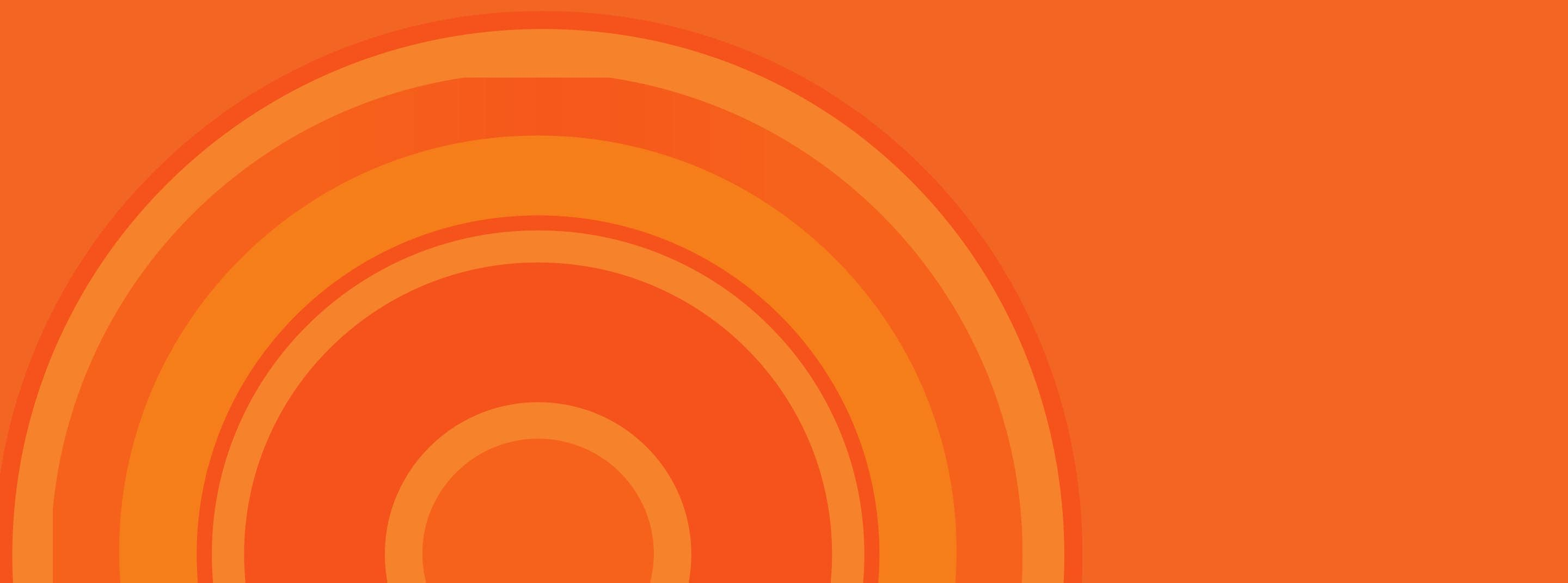 Orange circles on orange background