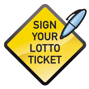 Sign your lotto ticket graphic