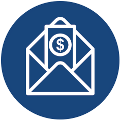 Mail icon blue
