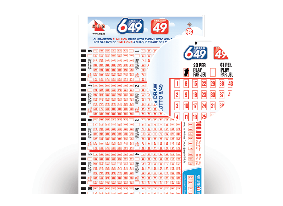 Close-up of LOTTO 649/ONTARIO 49 Quick Pick Selection Slip number filled in