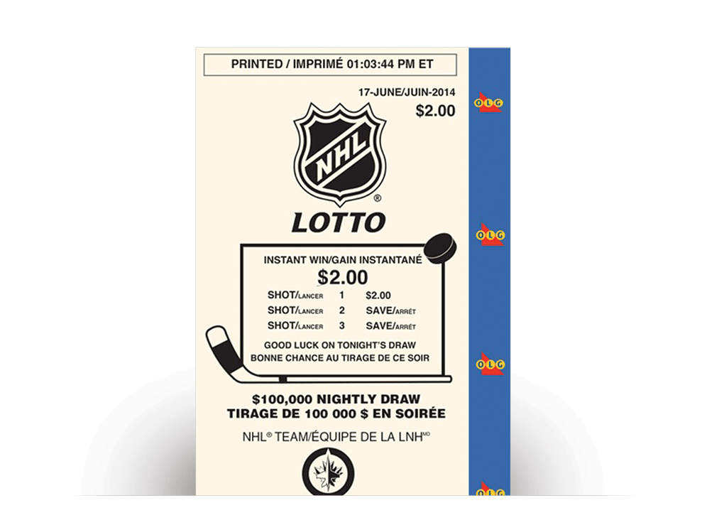 NHL® LOTTO ticket