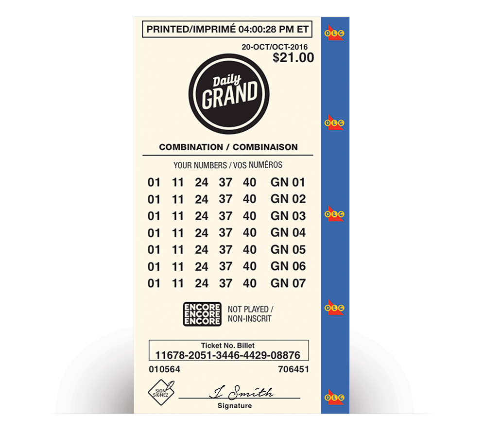 Billet Jeu-combinaisons de DAILY GRAND