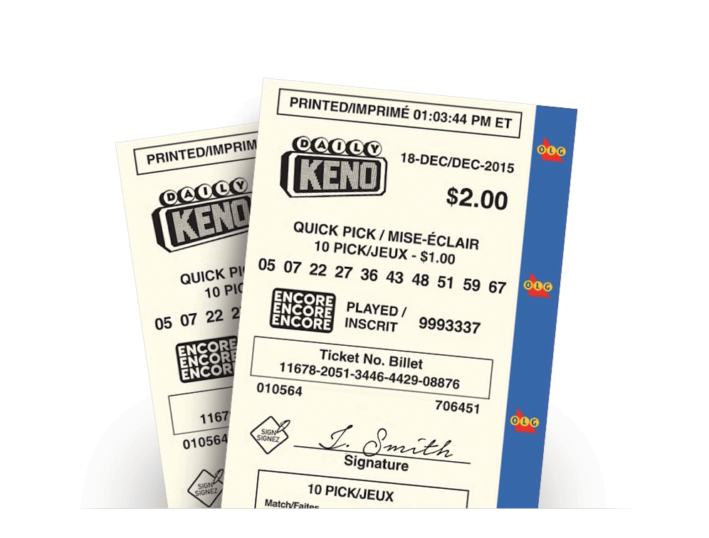 Two DAILY KENO Quick Pick tickets