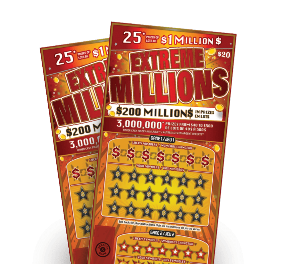 Two EXTREME MILLIONS tickets