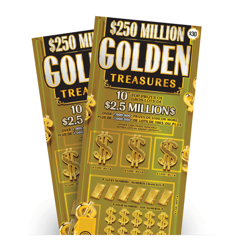 Two $250 MILLION GOLDEN TREASURES tickets