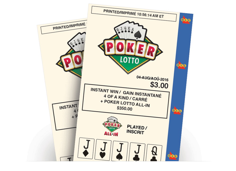 Two POKER LOTTO customer receipts