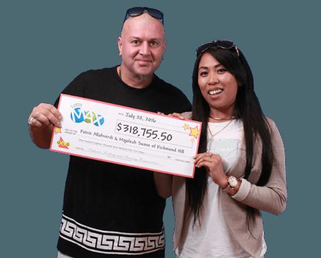 RECENT Lotto Max WINNERS - Patrik Allahverdi & Majoleah Suano