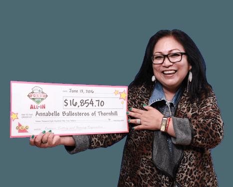 RECENT Poker Lotto WINNER - Annabelle Ballesteros