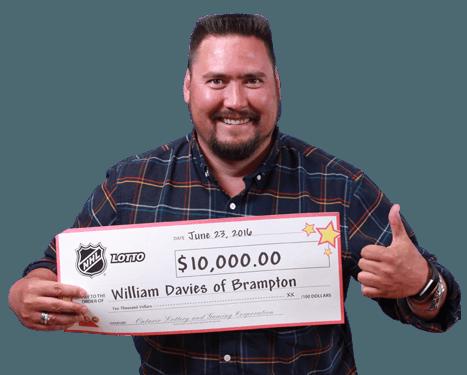 RECENT NHL® Lotto WINNER - William Davies