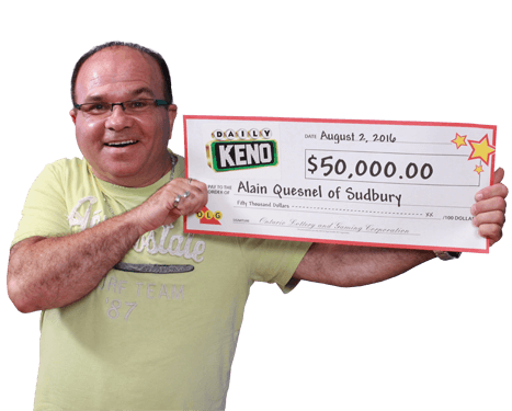 RECENT Daily Keno WINNER - Alain Quesnel
