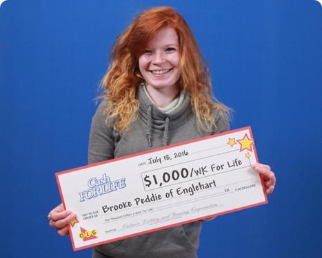 RECENT Instant WINNER - Brooke Peddie