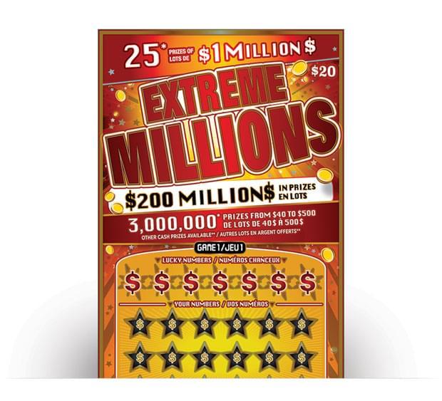Extreme Millions Ticket