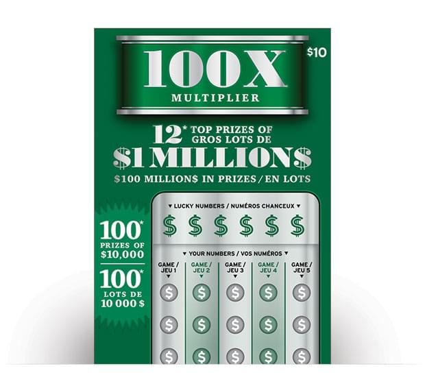 100x MULTIPLIER ticket