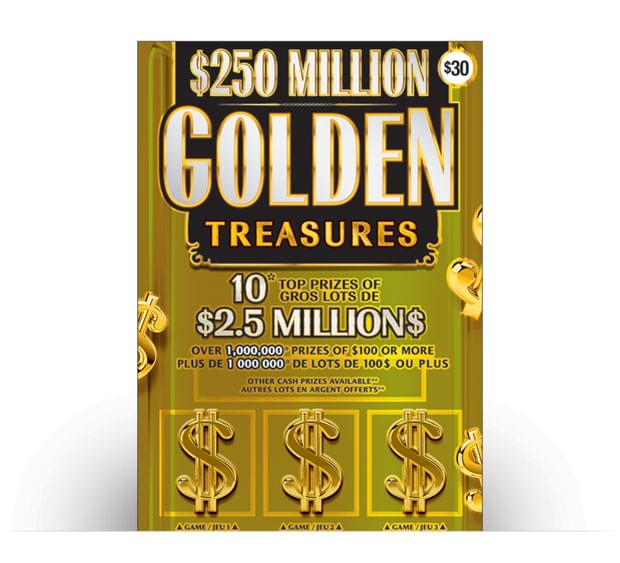 Billet de $250 Million Golden Treasures