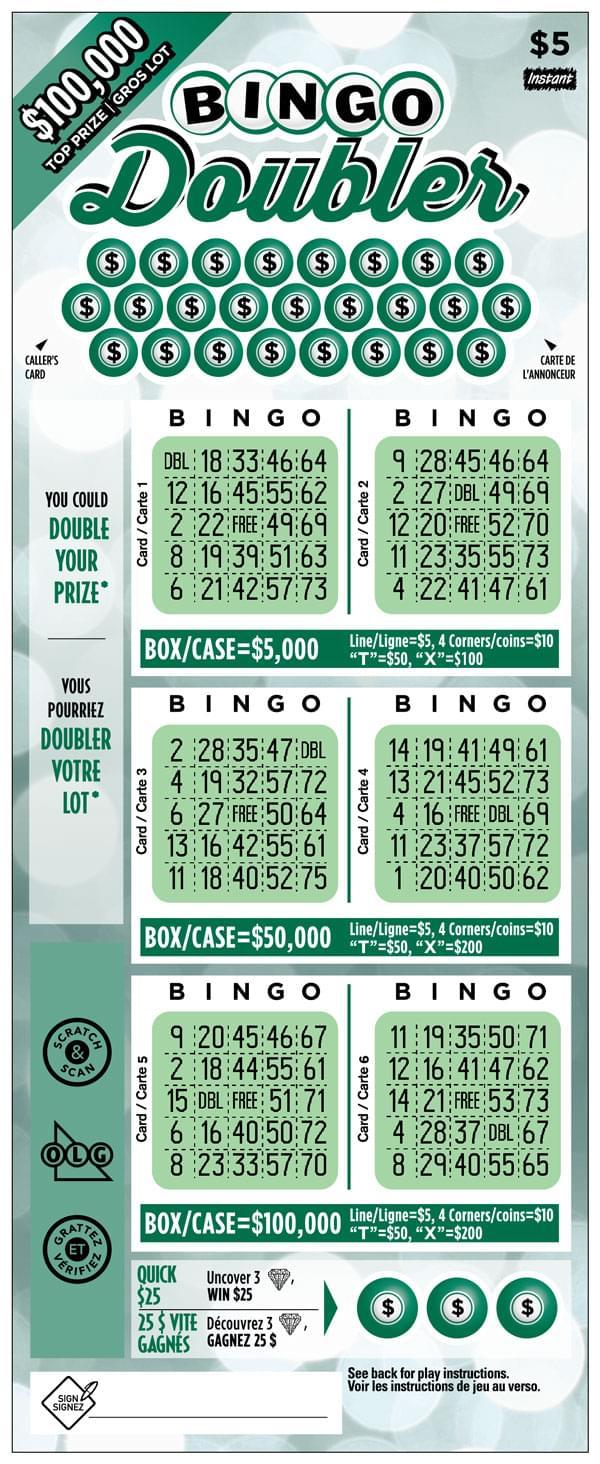Bingo Doubler Ticket