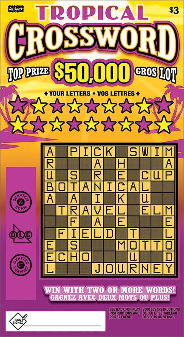 Tropical Crossword Ticket