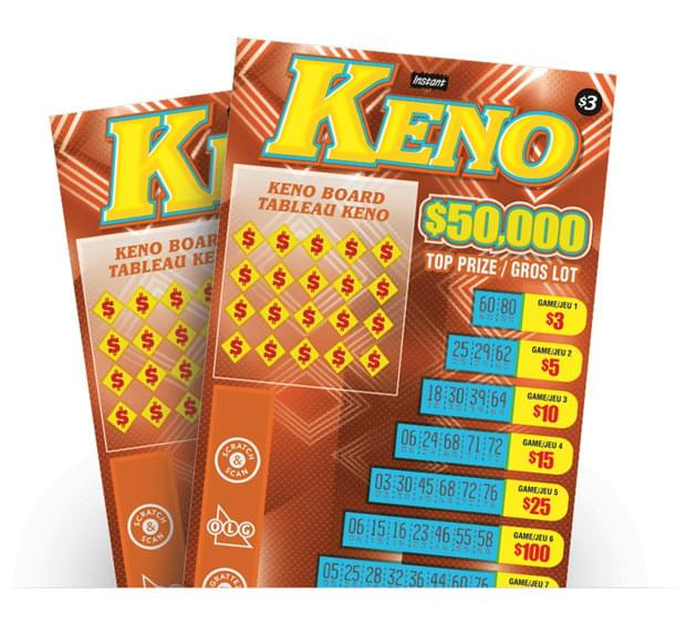 Instant Keno Ticket