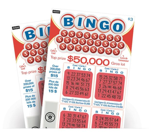 Two INSTANT BINGO tickets