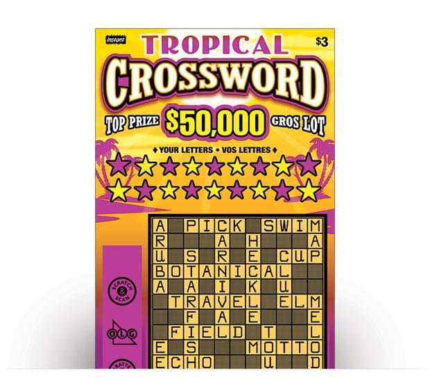 Billet de TROPICAL CROSSWORD
