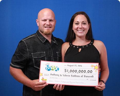 RECENT Lotto Max WINNERS - Anthony & Valerie Robbins