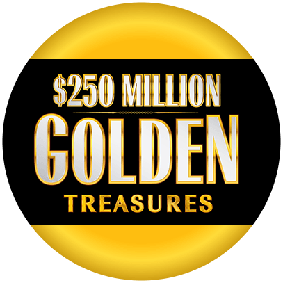 $250 MILLION GOLDEN TREASURES logo