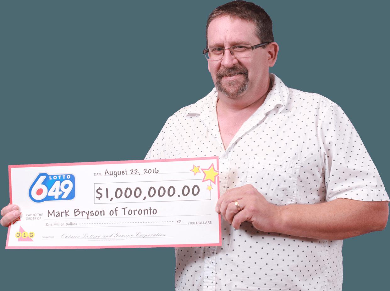 RECENT Lotto 6/49 WINNER - Mark Bryson