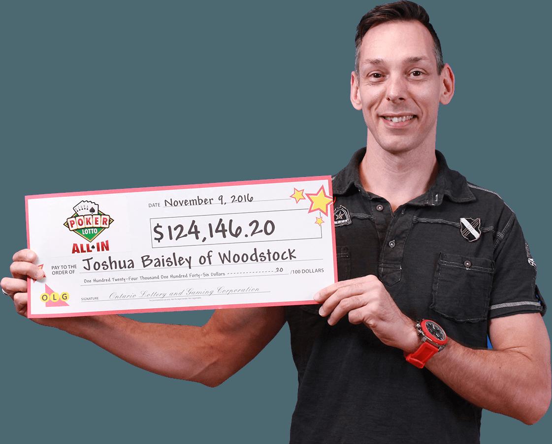 RECENT Poker Lotto WINNER - Joshua Baisley