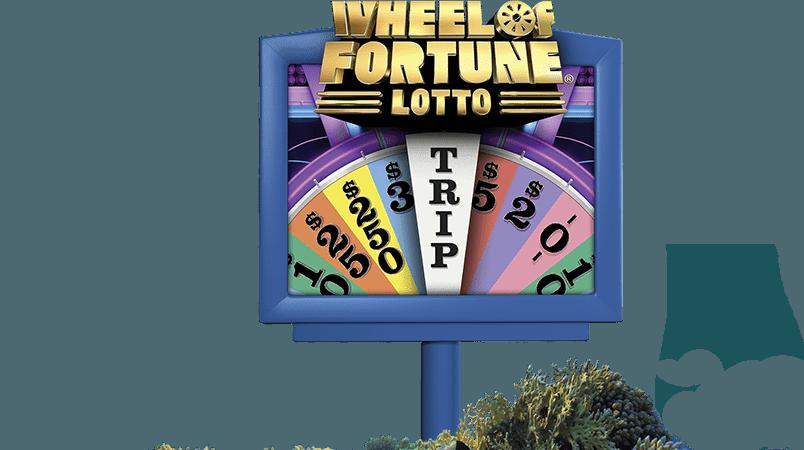 Wheel of fortune lotto screen