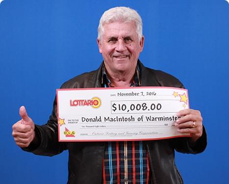 RECENT Lottario WINNER - Donald MacIntosh