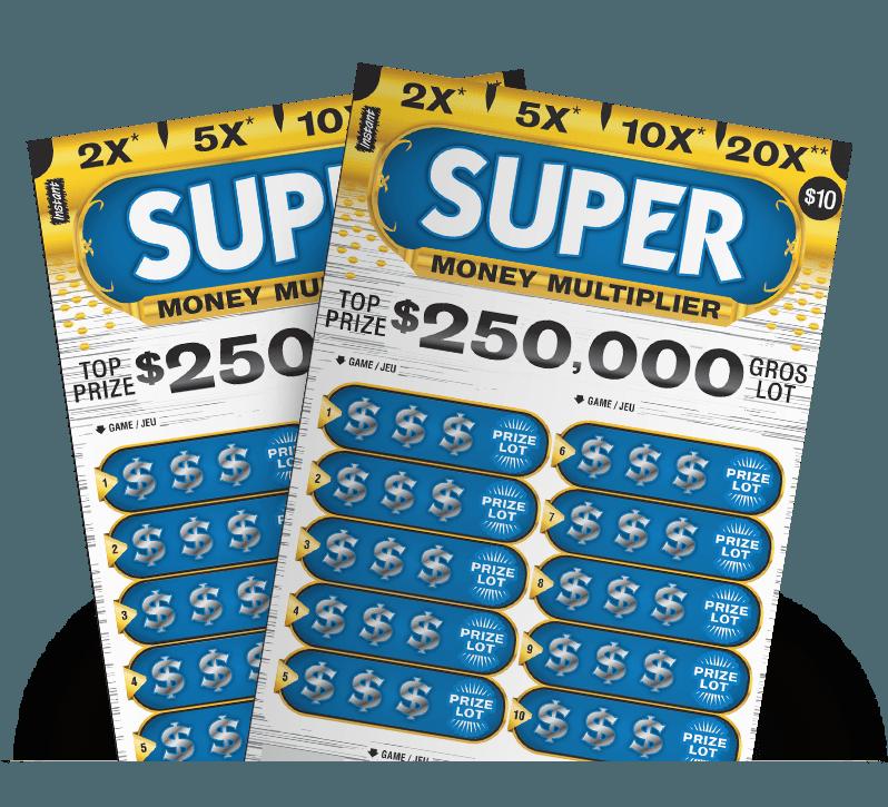 Fanned Super Money Multiplier ticket