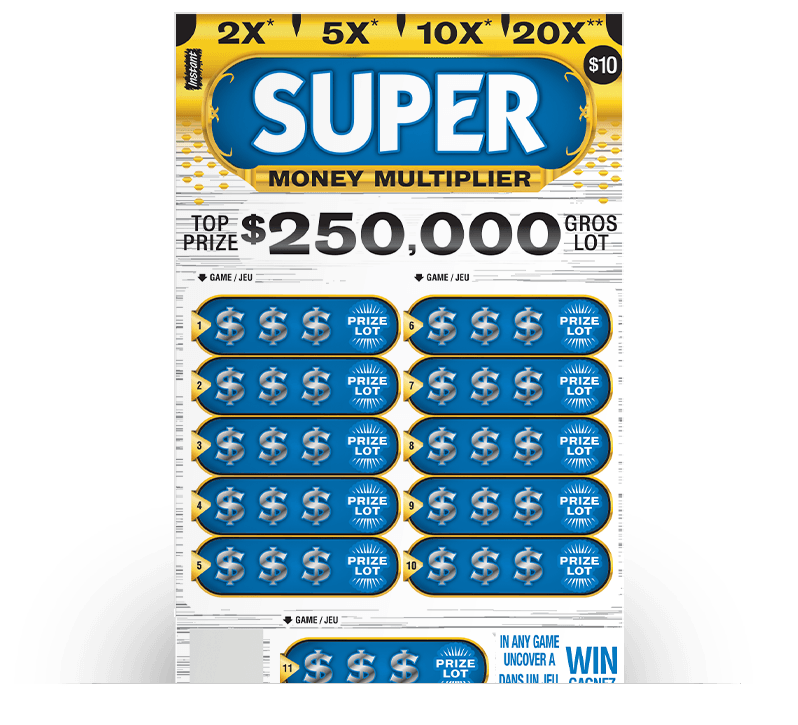 SUPER MONEY MULTIPLIER Ticket
