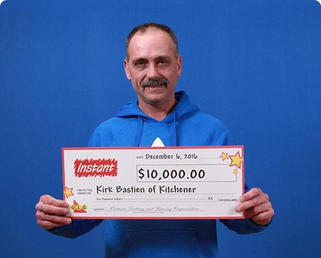 RECENT Instant WINNER - Kirk Bastien