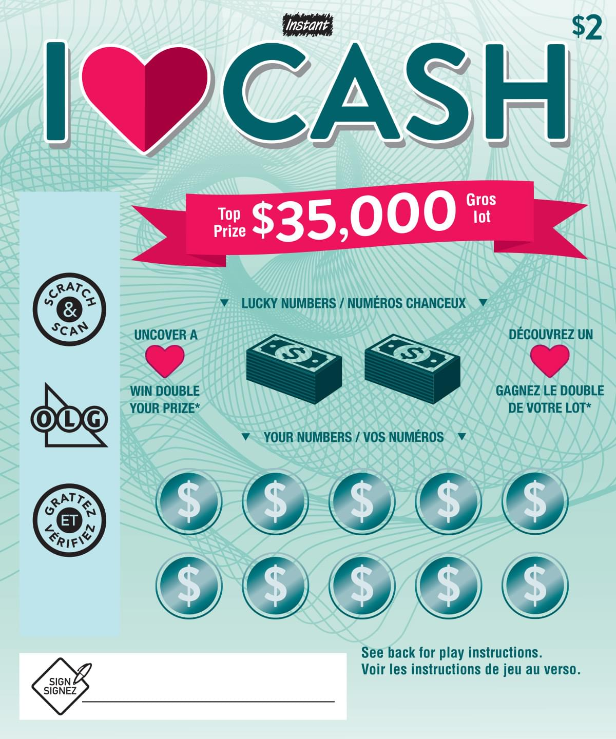 I ♥ CASH ticket