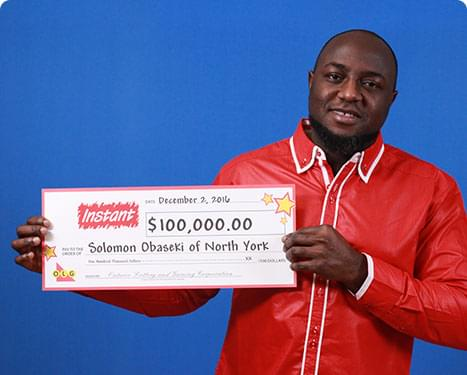 RECENT Instant WINNER - Solomon Obaseki