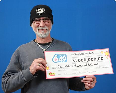 RECENT Lotto 6/49 WINNER - Jean-Marc Savoie
