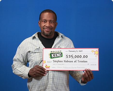 RECENT Daily Keno WINNER - Stephen Hobson