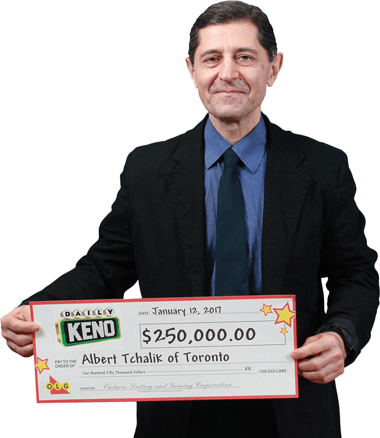 RECENT Daily Keno WINNER - Albert Tchalik