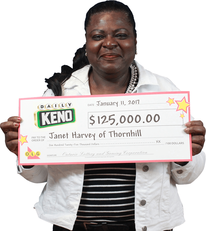 RECENT Daily Keno WINNER - Janet Harvey