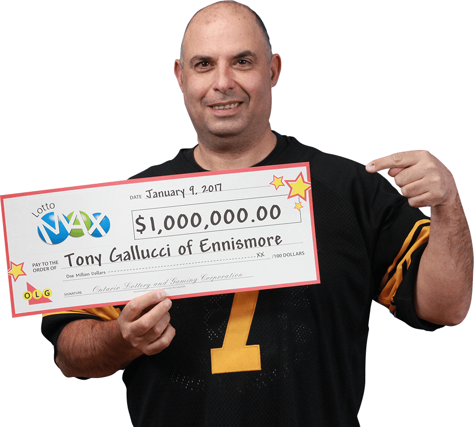 RECENT Lotto Max WINNER - Tony Gallucci