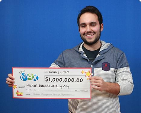 RECENT Lotto Max WINNER - Michael Bitondo