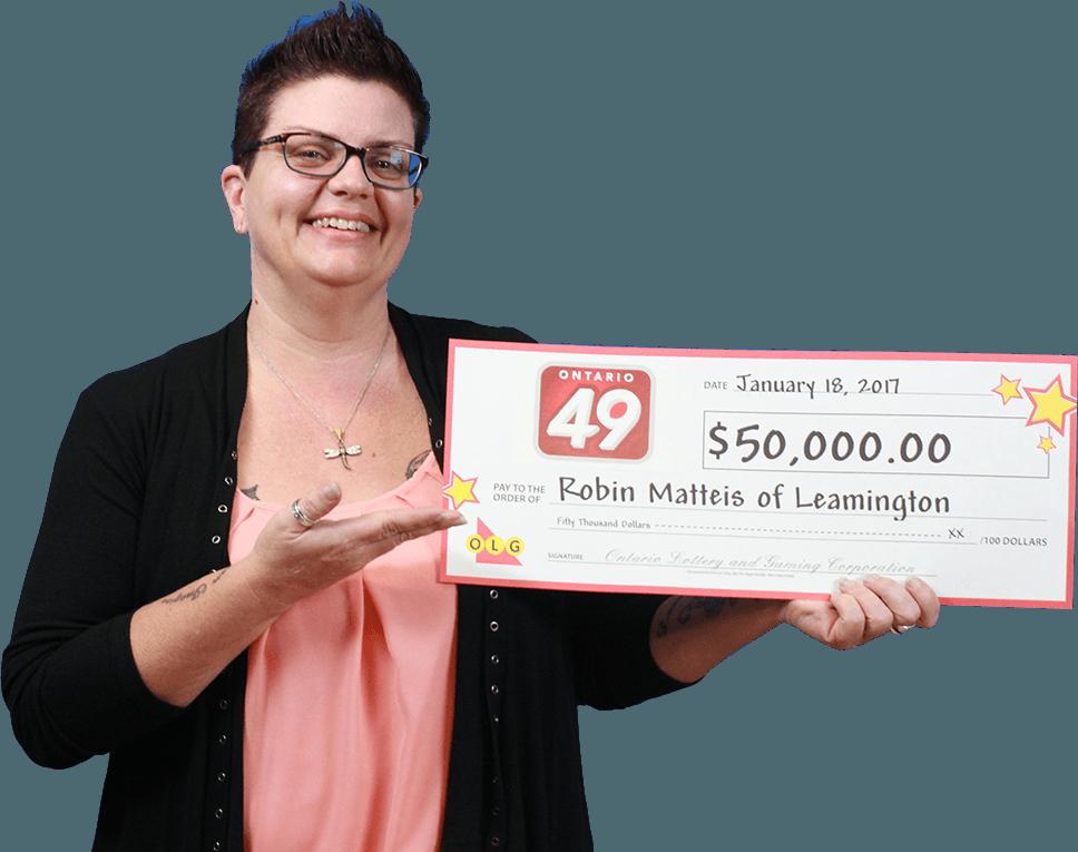 GAGNANTE RÉCENTE À Ontario 49 - Robin Matteis