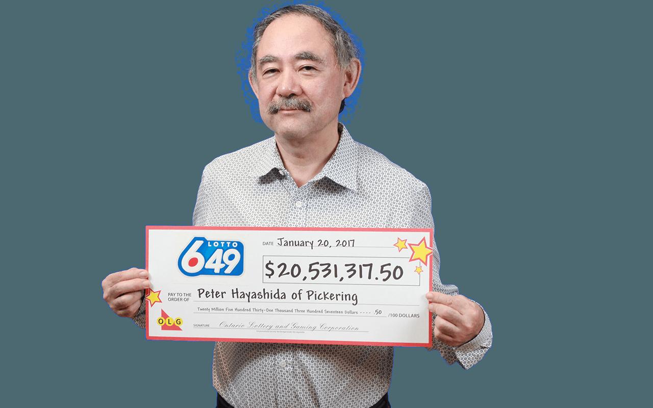 RECENT Lotto 6/49 WINNER - Peter Hayashida
