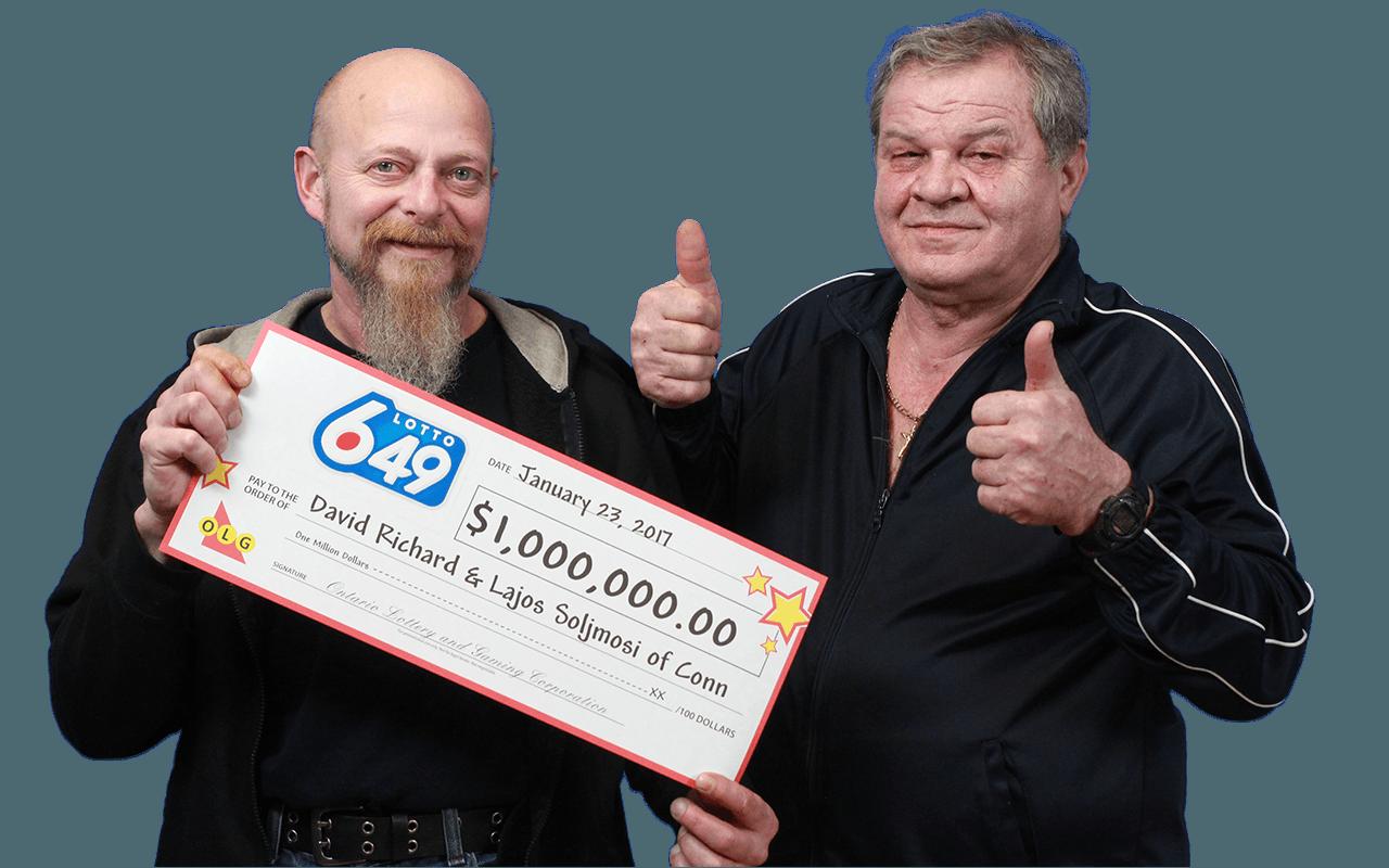 RECENT Lotto 6/49 WINNERS - David Richard and Lajos Soljmosi